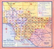 Index Map, Los Angeles County 1957 Street Atlas